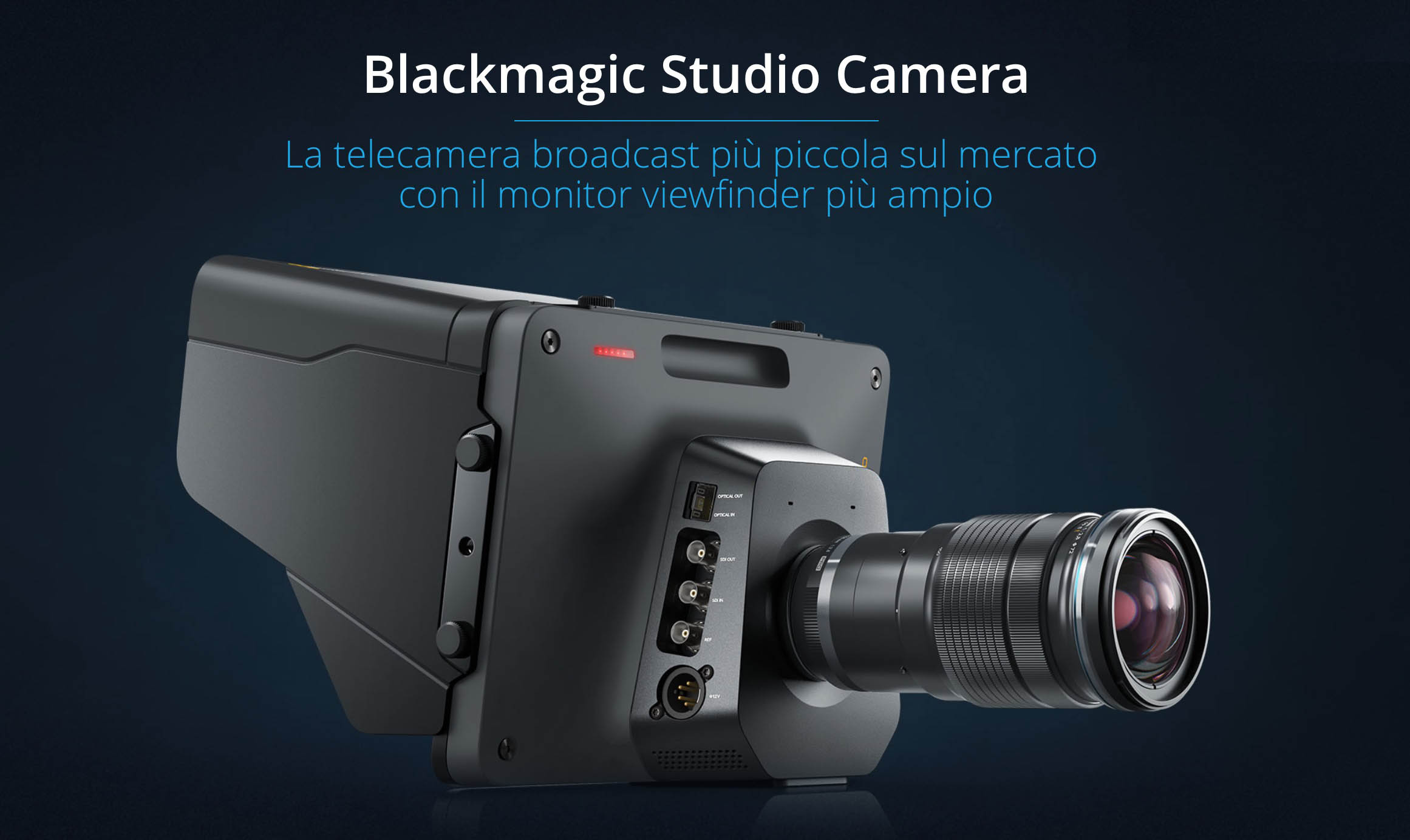 Blackmagic Studio Camera HD e 4K