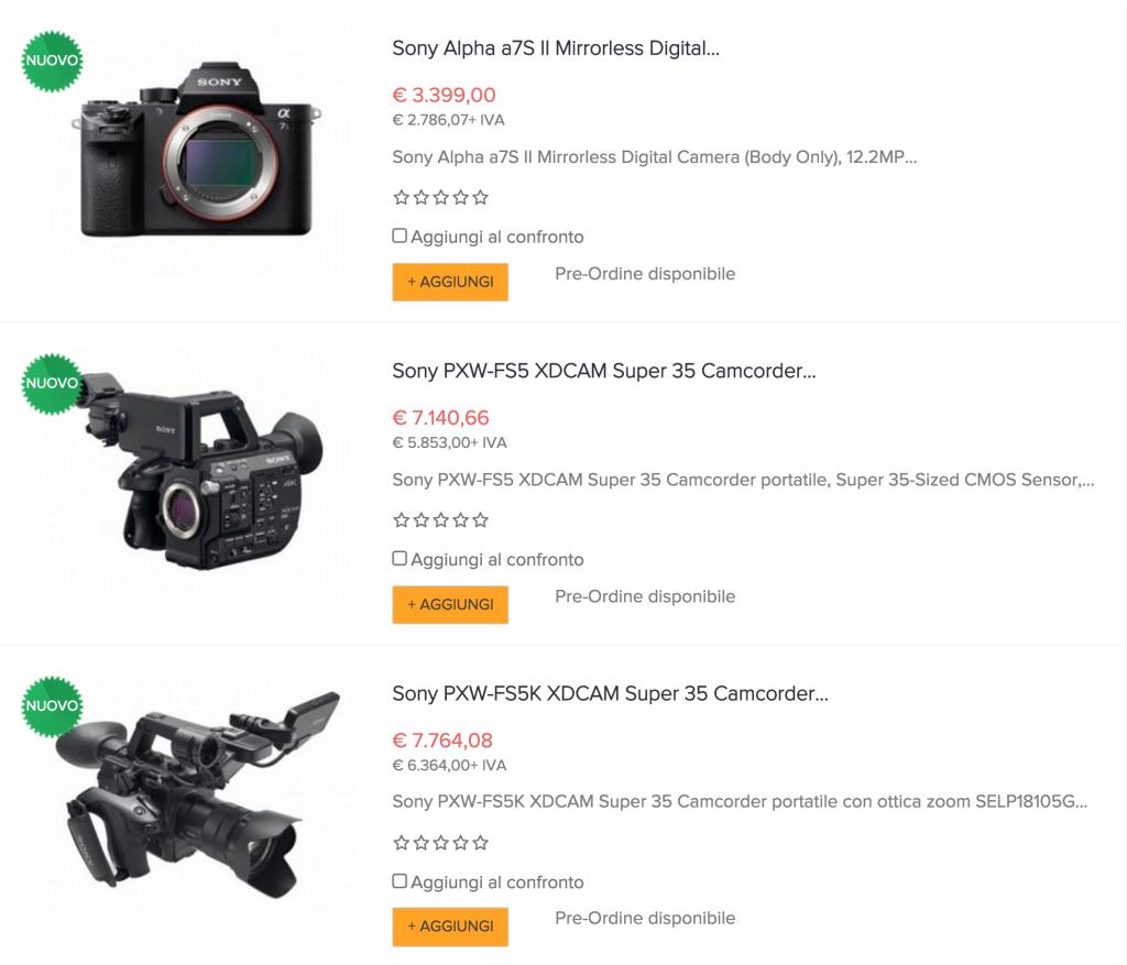 Sony Alpha a7S II, Sony PXW-FS5, Sony PXW-FS5K, novità IBC 2015