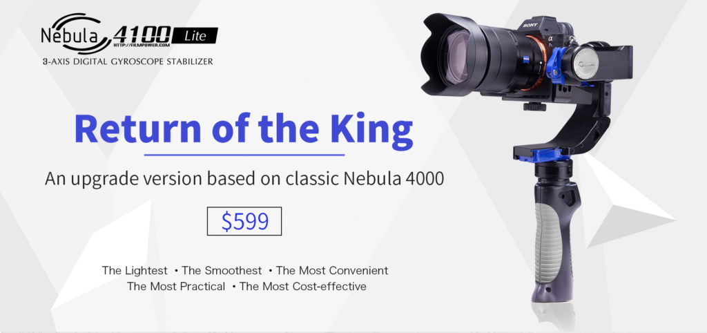 FilmPower Nebula 4100 lite 3-axis Gimbal Stabilizer per Fotocamere Mirrorless